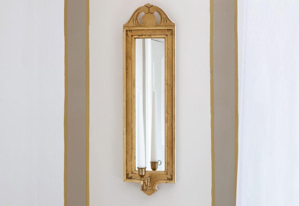 Gustaviansk, spegel, lampett.